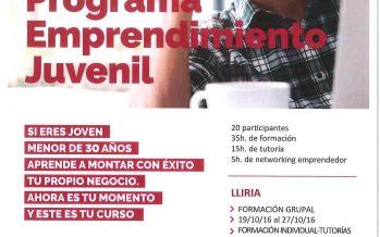 Curso para jóvenes emprendedores menores de 30 años