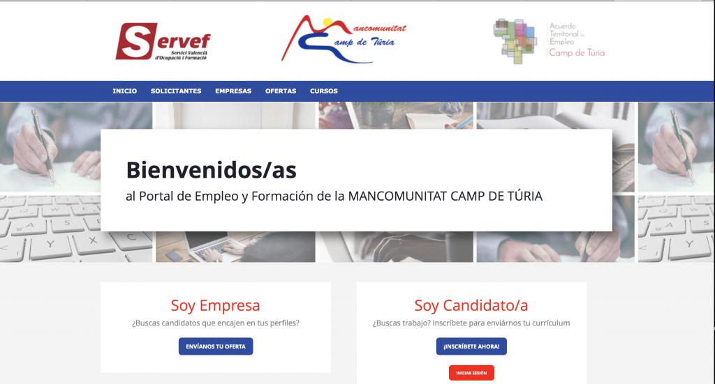 portal empleo y formación Mancomunitat Camp de Túria