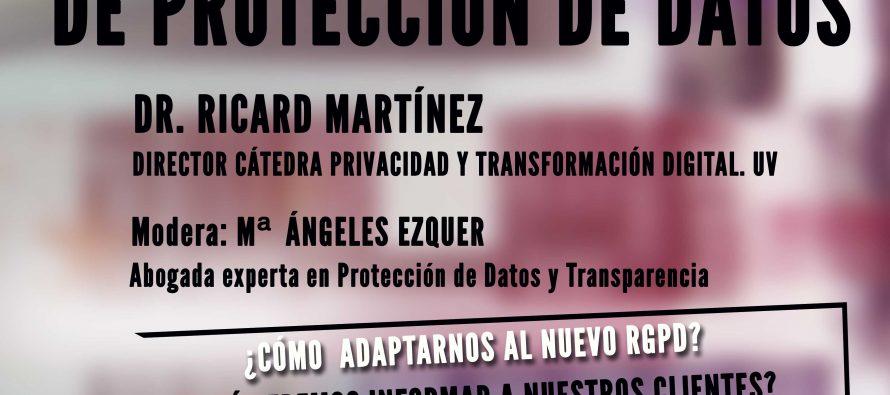 Jornada sobre protección de datos dirigida a comerciantes y empresarios