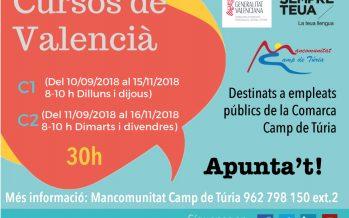 La Mancomunitat organiza cursos de Valenciano