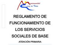 REGLAMENTO DE FUNCIONAMIENTO DE LOS SERVICIOS SOCIALES