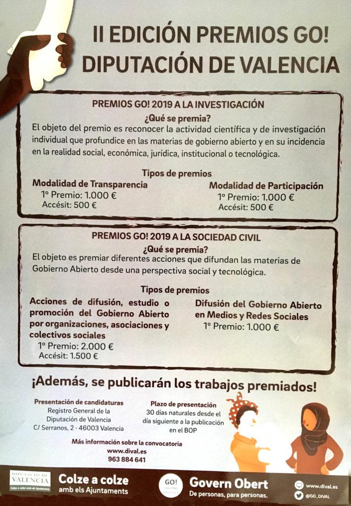 premios go diputación de valencia Mancomunitat