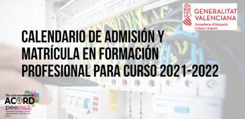 Educación publica el calendario de admisión y matrícula en Formación Profesional para el próximo curso